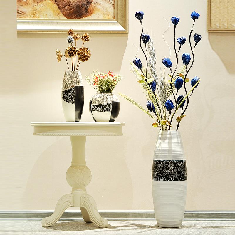 Как сделать цветы для напольной вазы